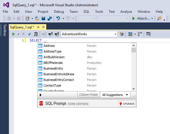 SQL Prompt Core - Visual Studio Marketplace